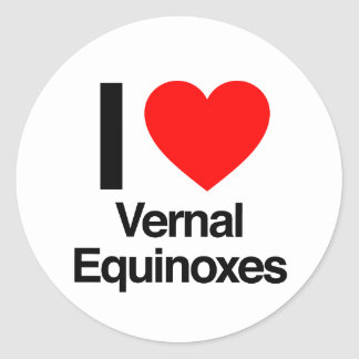 i love vernal equinoxes sticker