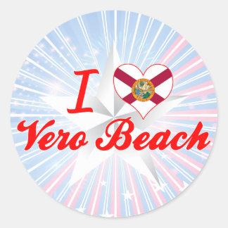 I Love Vero Beach, Florida Classic Round Sticker