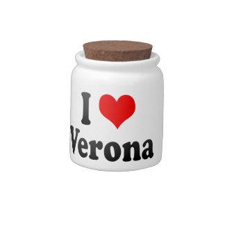 I Love Verona, Italy Candy Jars