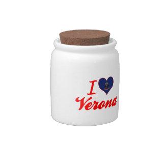 I Love Verona, North Dakota Candy Dish