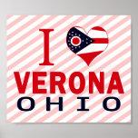 I love Verona, Ohio Posters