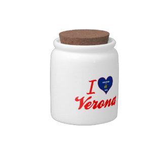 I Love Verona, Wisconsin Candy Jar