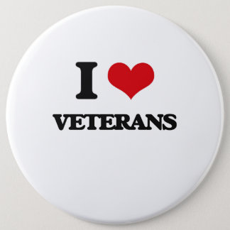 I love Veterans Pinback Button