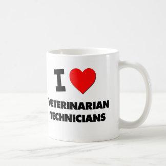 I Love Veterinarian Technicians Classic White Coffee Mug