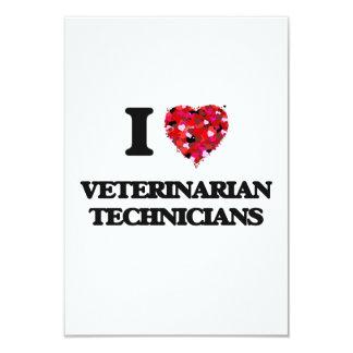 I love Veterinarian Technicians 3.5x5 Paper Invitation Card