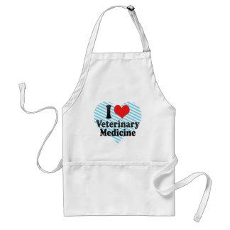 I Love Veterinary Medicine Adult Apron