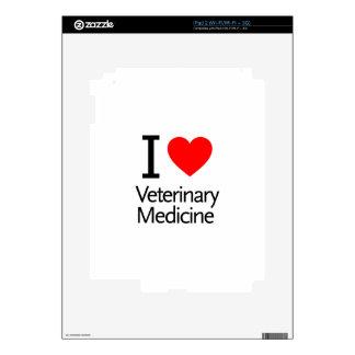 I Love Veterinary Medicine Decal For iPad 2
