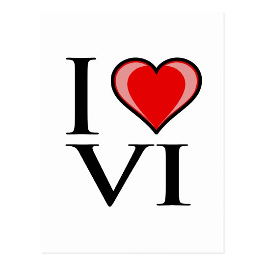 I Love VI - Virgin Islands Postcard