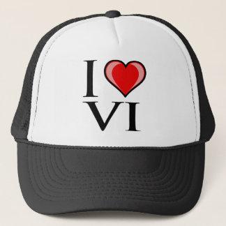 I Love VI - Virgin Islands Trucker Hat
