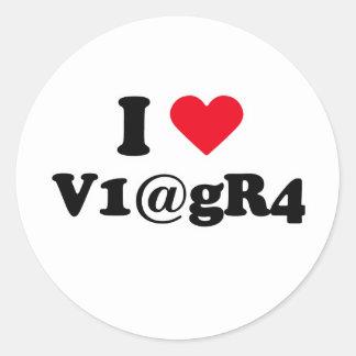 I love viagra classic round sticker