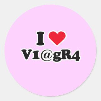 I love viagra round stickers