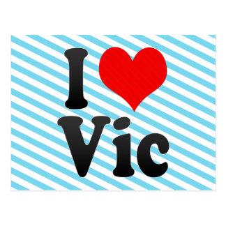 I Love Vic, Spain Postcard