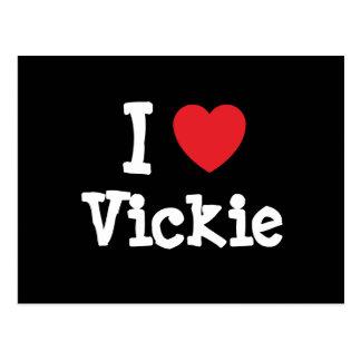 I love Vickie heart T-Shirt Post Card