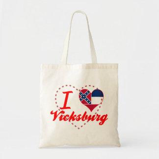 I Love Vicksburg, Mississippi Canvas Bag