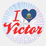 I Love Victor, Idaho Classic Round Sticker
