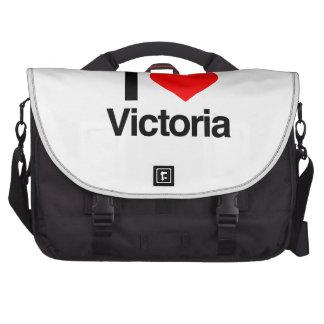 i love victoria laptop messenger bag