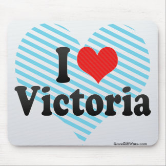 I Love Victoria Mouse Pads