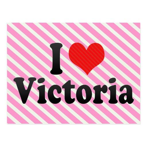 I Love Victoria Postcard