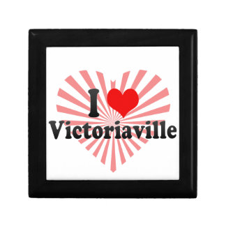I Love Victoriaville Canada Keepsake Boxes
