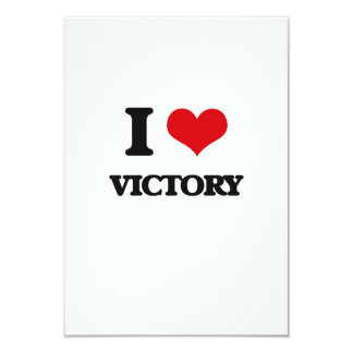 I love Victory 3.5x5 Paper Invitation Card