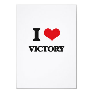 I love Victory 5x7 Paper Invitation Card
