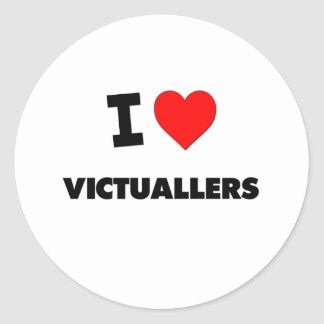 I Love Victuallers Round Stickers