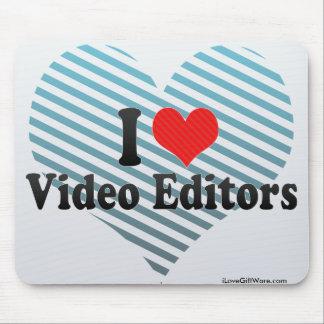 I Love Video Editors Mousepads