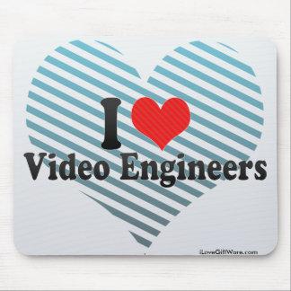 I Love Video Engineers Mousepad