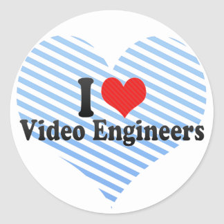 I Love Video Engineers Stickers
