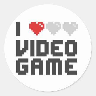 I Love Video Game Classic Round Sticker