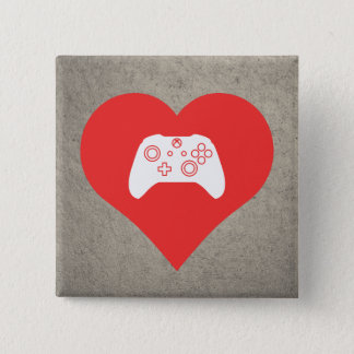 I Love Video Game Controls Cool Symbol Pinback Button