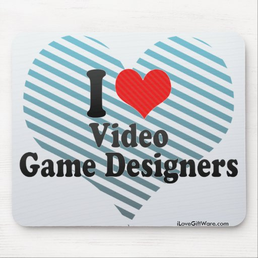 I Love Video Game Designers Mouse Pad
