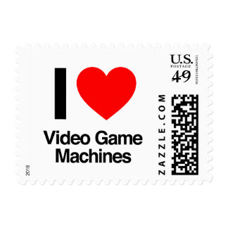 i love video game machines stamp