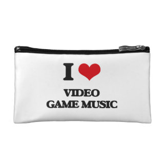 I Love VIDEO GAME MUSIC Cosmetic Bags