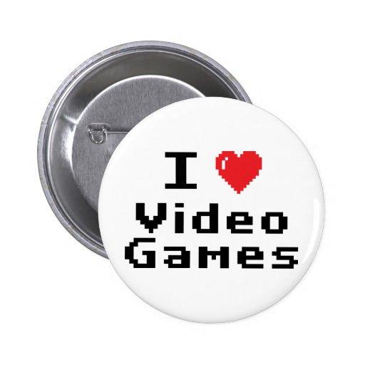 I Love Video Games 2 Inch Round Button