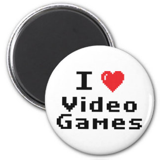 I Love Video Games 2 Inch Round Magnet