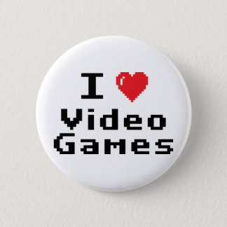 I Love Video Games Button