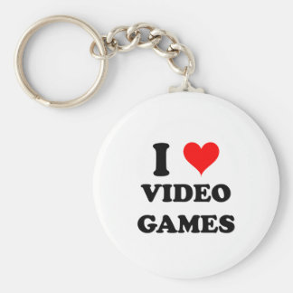 I Love Video Games Keychains