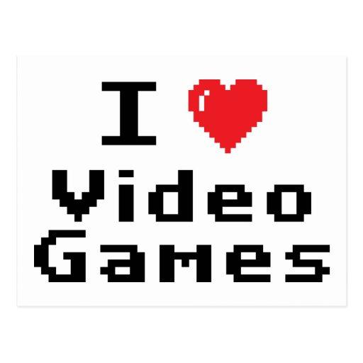I Love Video Games Postcard