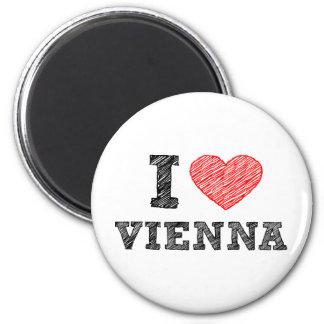 I Love Vienna 2 Inch Round Magnet