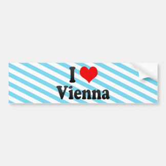 I Love Vienna, Austria Bumper Sticker