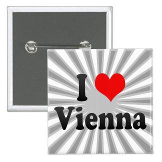 I Love Vienna, Austria Pinback Buttons