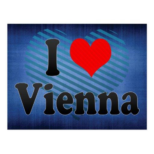 I Love Vienna, Austria Postcard