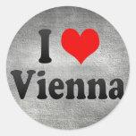 I Love Vienna, Austria Round Stickers