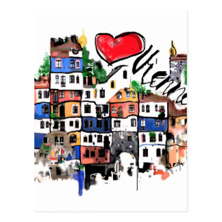 I love Vienna Postcard