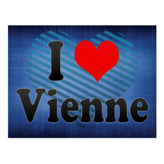 I Love Vienne, France Postcard