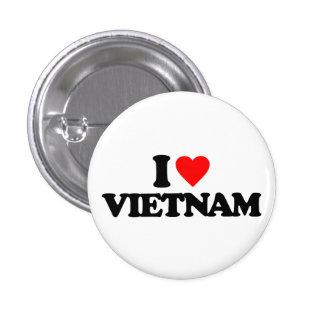 I LOVE VIETNAM PINBACK BUTTONS