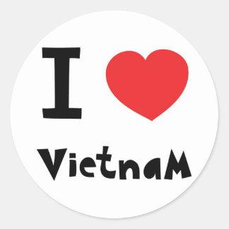 I love Vietnam Round Sticker