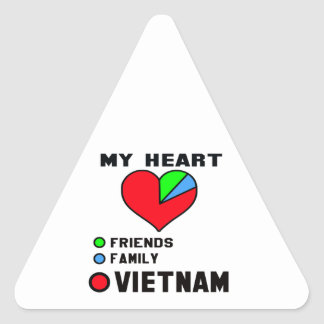 I love Vietnam. Triangle Sticker