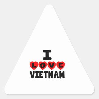 I LOVE VIETNAM TRIANGLE STICKER